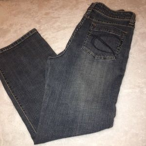 Chico's Platinum Faded Wash Boot Cut Jeans Size 0